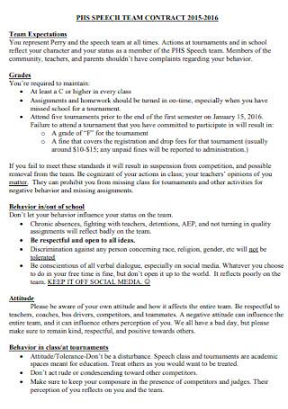 Simple Speech Team Contract