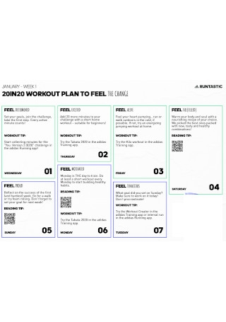 Simple Workout Plan Template