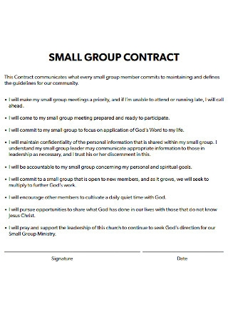 Small Group Contract