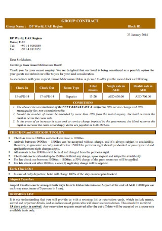 Standard Group Contract Template
