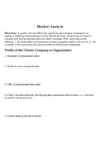 Standard Market Analysis Template