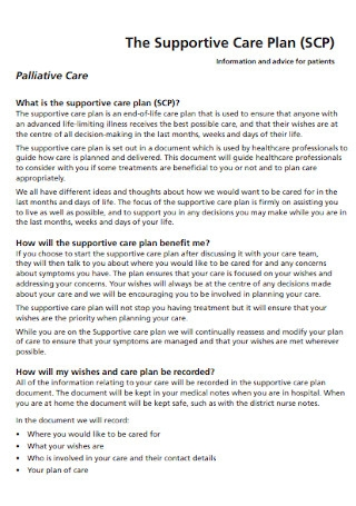 Supportive Care Plan
