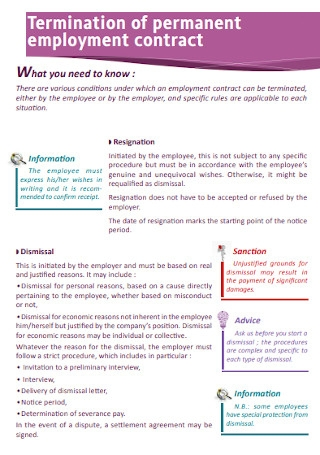Termination of Permanent Employment Contract