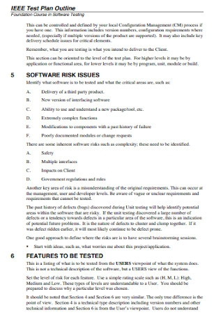 Test Plan Outline Template