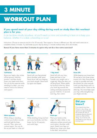 Three Minute Workout Plan