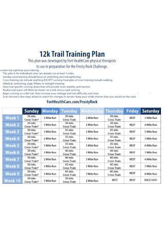 Traiil Training Plan