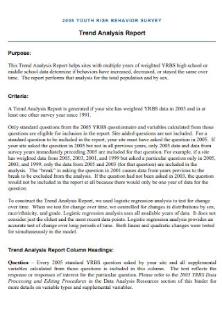 Trend Analysis Report