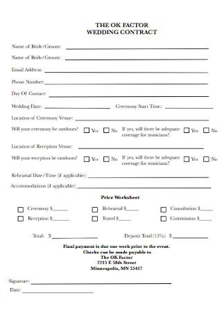 Wedding Factor Contract