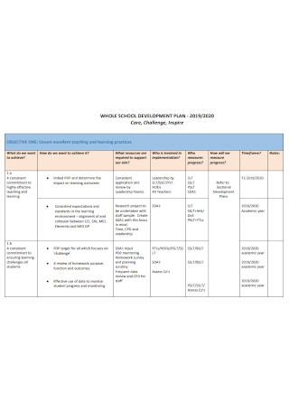 Whole School Development Plan