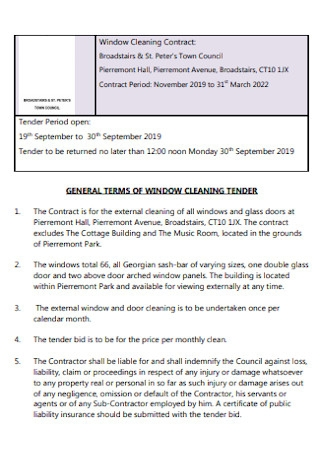 33 Sample Cleaning Contract Templates In Pdf Ms Word