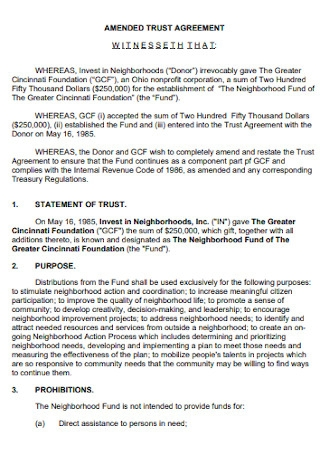 Amended Trust Agreement