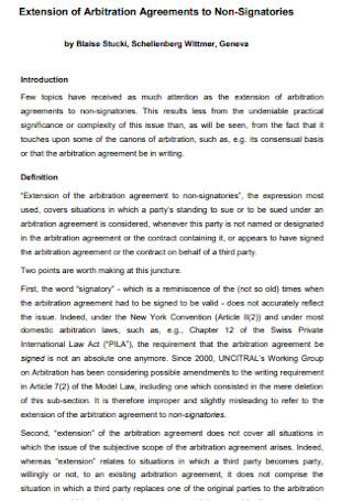 Arbitration Agreements to Non Signatories