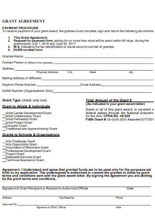 Arts Council Grant Agreement