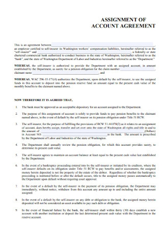 Assignment of Account Agreement