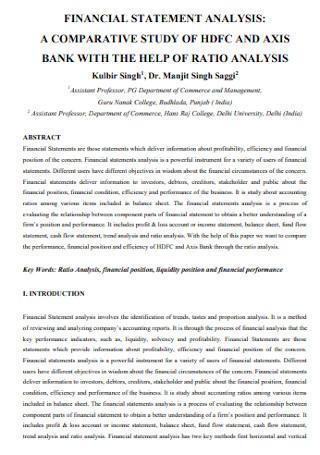 Bank Financial Statement Analysis