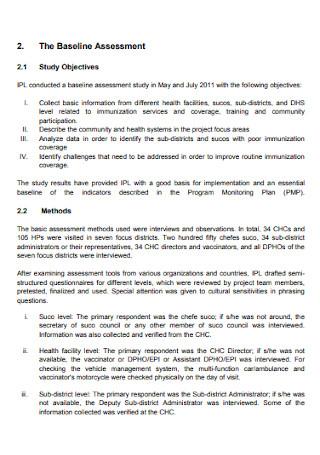 Baseline Assessment Report