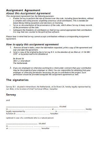 Basic Assignment Agreement Template