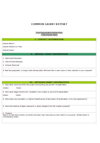 Basic Common Grant Template
