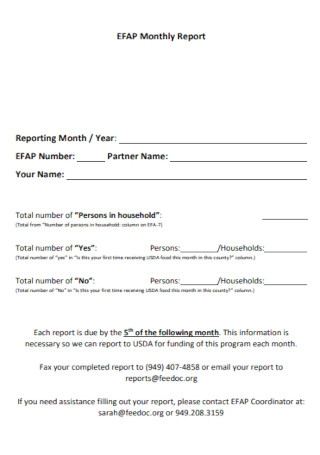 Basic Monthly Report