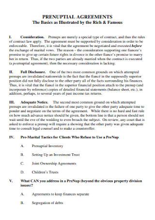 Basic Prenuptial Agreement Example