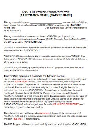 Basic Program Vendor Agreement