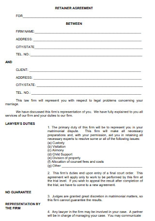 Basic Retainer Agreement Template