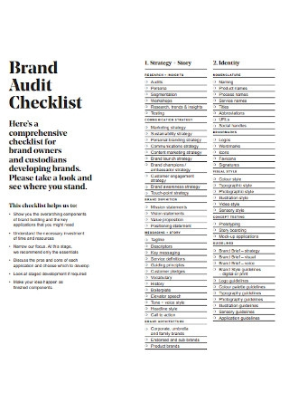 Brand Audit Checklist