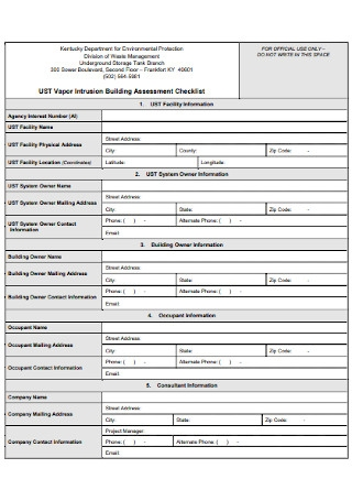 Building Assessment Checklist