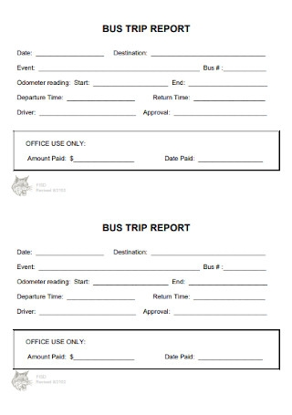 Bus Trip Report Template