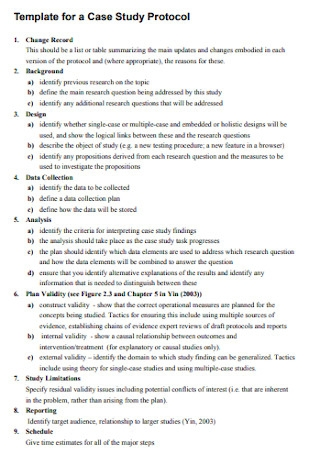 Case Study Protocol