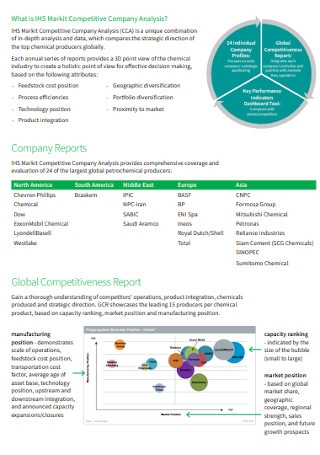 Chemical Competitive Company Analysis