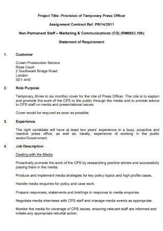 Commercial Assignment Contract