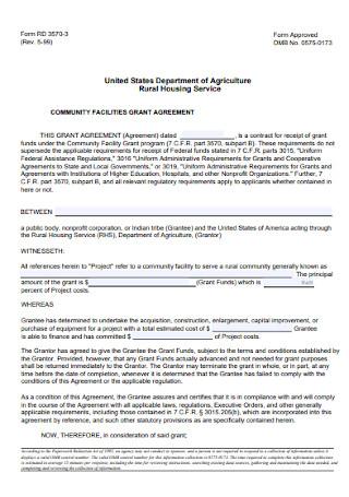 Community Facility Grant Agreement