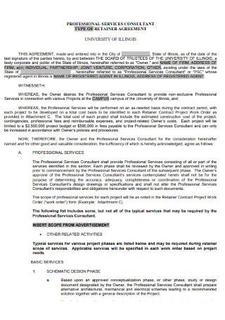 Consultant Retainer Agreement Template