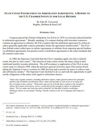 Court Enforcement Arbitration Agreement