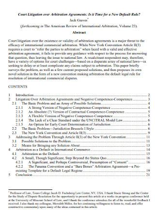 Court Litigation Arbitration Agreements