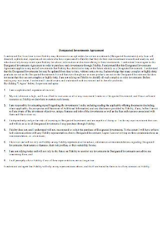 Designated Investments Agreement
