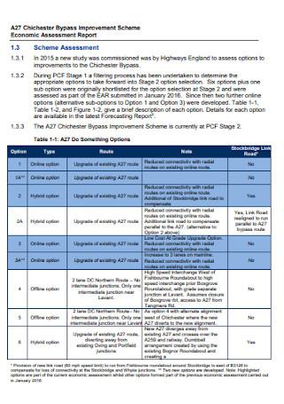 Economic Assessment Report