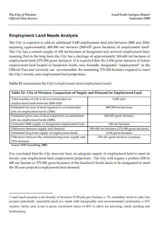 Employment Land Needs Analysis