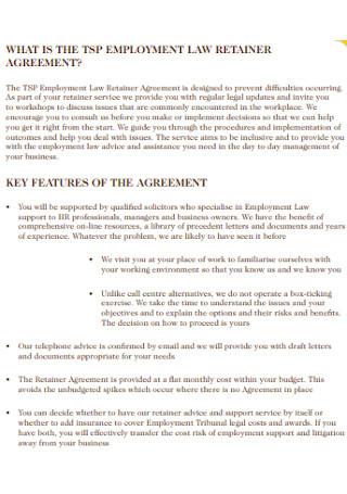 Employment Law Retainer Agreement
