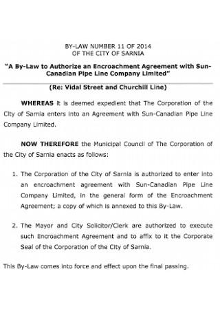 Encroachment Law Agreement