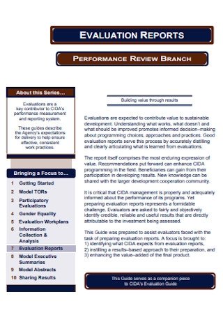 Evaluation Perform Report