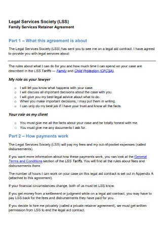 Family Services Retainer Agreement