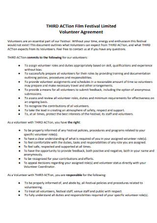 Film Festival Volunteer Agreement