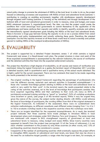 Final Assessment Report