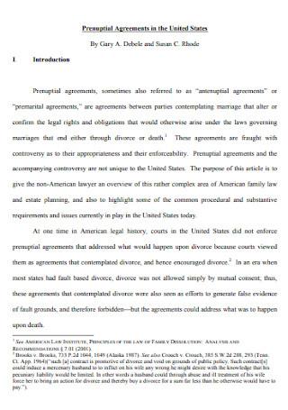 Formal Prenuptial Agreements Template
