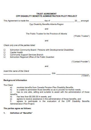 Formal Trust Agreement