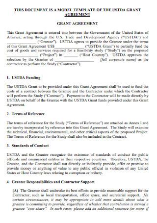 Grant Model Agreement