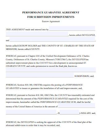 Guarantee Escrow Agreement