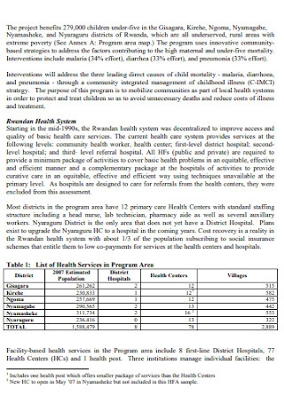 Health Facility Assessment Report